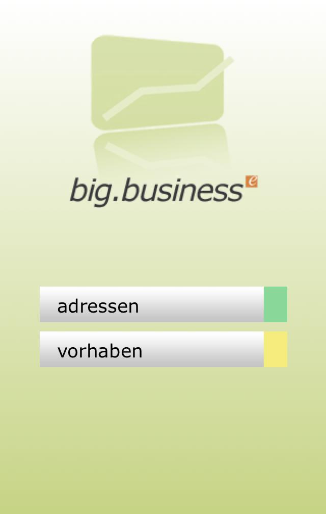 sozialserver.at, big.business Startbildschirm, big.business für Sozialträger